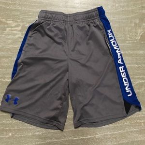 Under Armour boys small gray athletic shorts